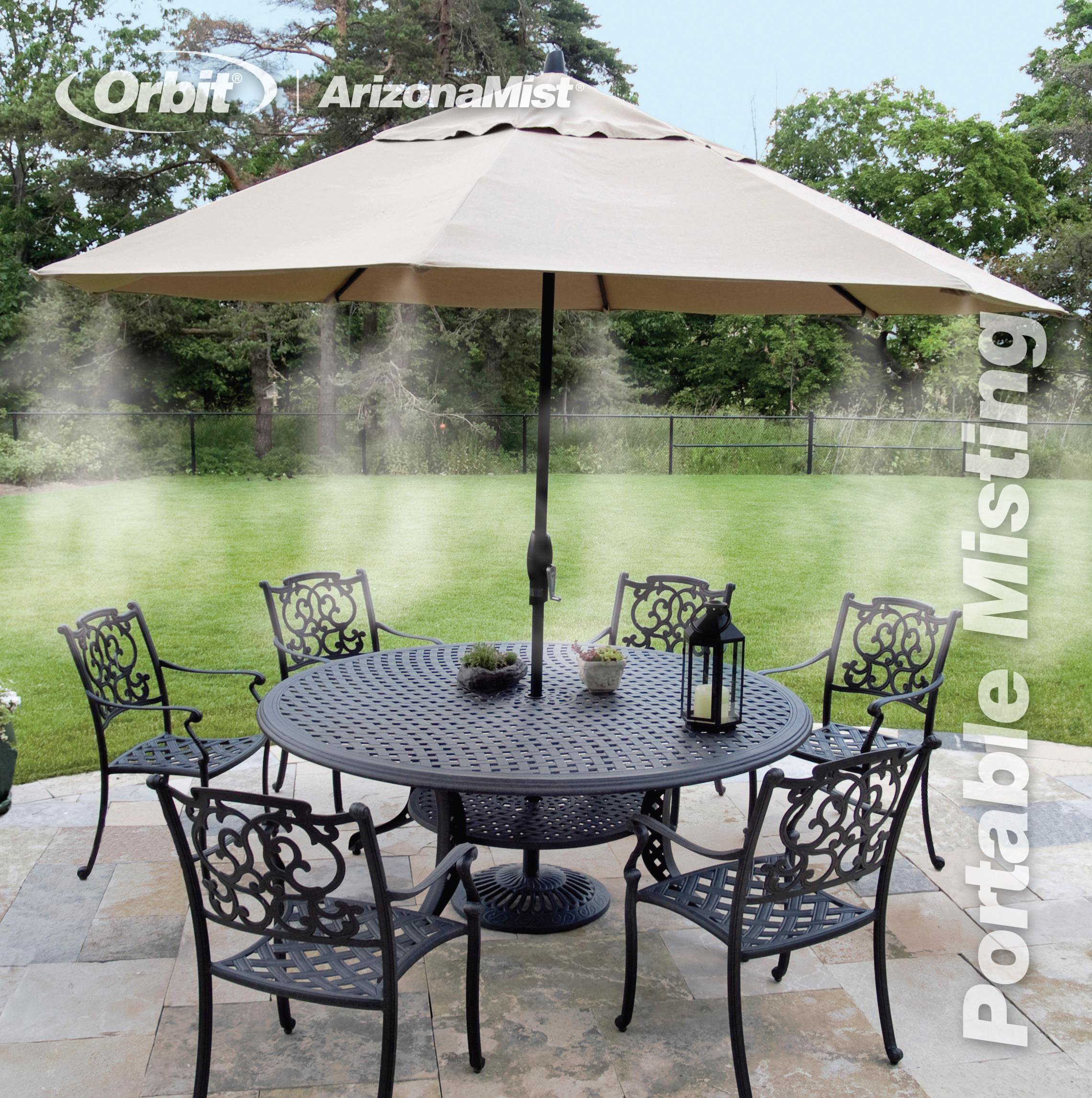 patio amazing outdoor furniture backyard misters throughout installing misting system wood